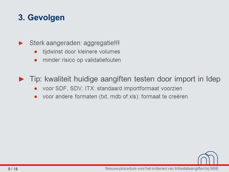Nieuwe procedure voor het indienen van Intrastataangiften bij NBB 9 / 18 3.