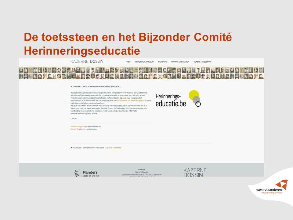 2 De toetssteen en het Bijzonder Comité Herinneringseducatie
