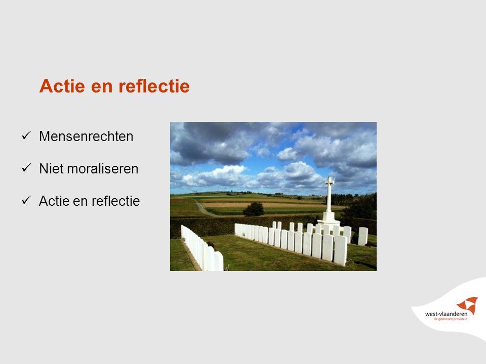 9 Mensenrechten Niet moraliseren Actie en reflectie