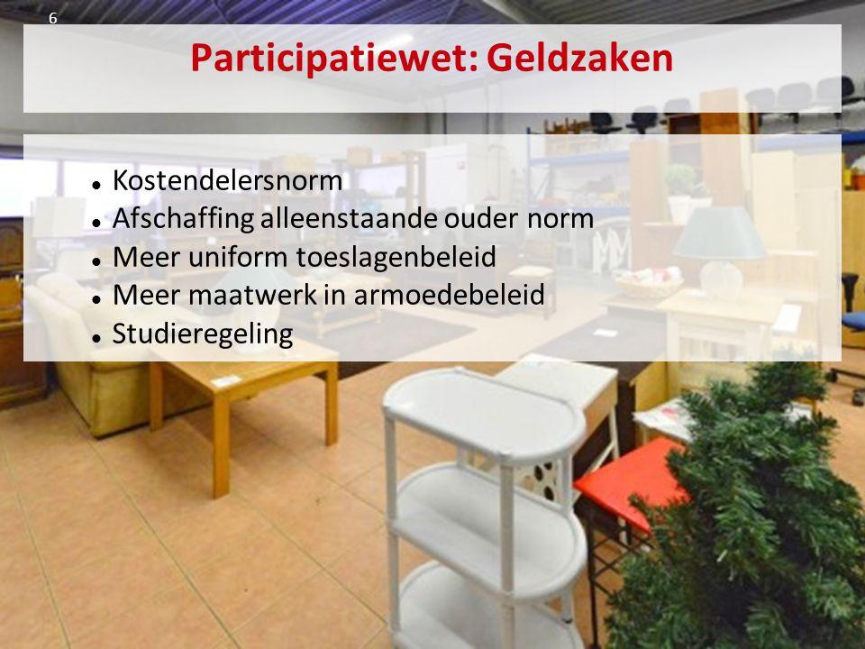 Bredase Plus + Geldzaken: Eén aanspreekpunt Goede voorlichting Samenwerken met vrijwilligers Pool van voorlichters Burgerparticipatie: Subsidie voor nieuwe ideeën Subsidie voor maatwerk 16/18