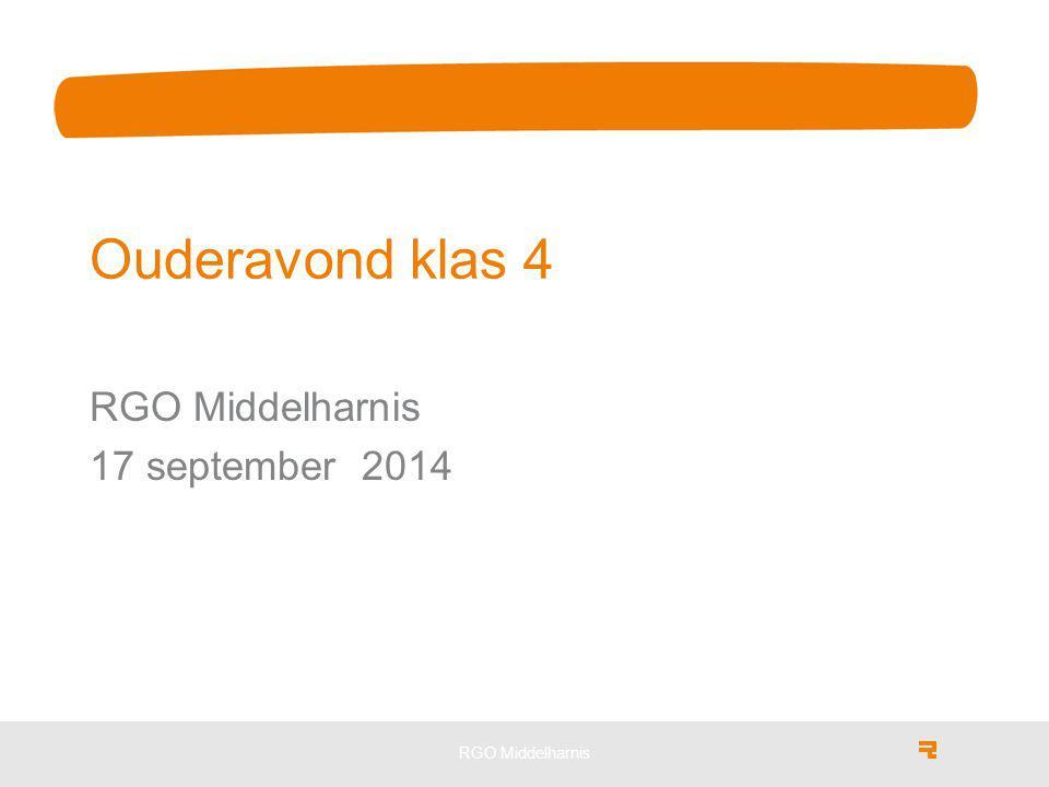 RGO Middelharnis Ouderavond klas 4 RGO Middelharnis 17 september 2014