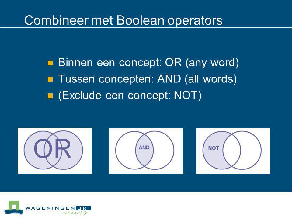 Boolean operators-1  jongeren  beleven  bos