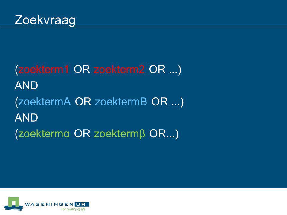 Zoeken van wetenschappelijke artikelen in Scopus Kijk in Search tips voor wildcards, phrases etc.