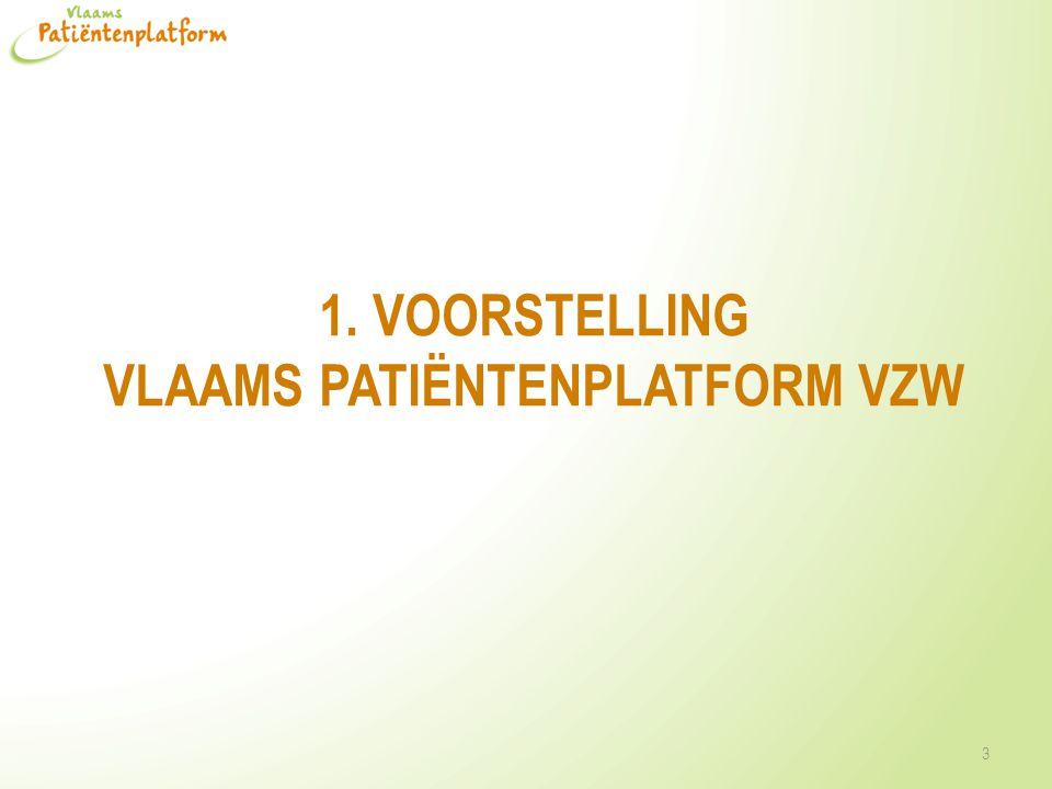 Vlaams Patiëntenplatform vzw 4 Platform van een 100-tal patiëntenverenigingen Onafhankelijk Algemene belangenbehartiging Thema's: patiëntenrechten, werk, verzekeringen, medicatie, kinderen, zeldzame ziekten, tegemoetkomingen …