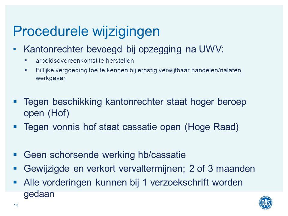 Kantonrechter bevoegd bij opzegging na UWV:  arbeidsovereenkomst te herstellen  Billijke vergoeding toe te kennen bij ernstig verwijtbaar handelen/n