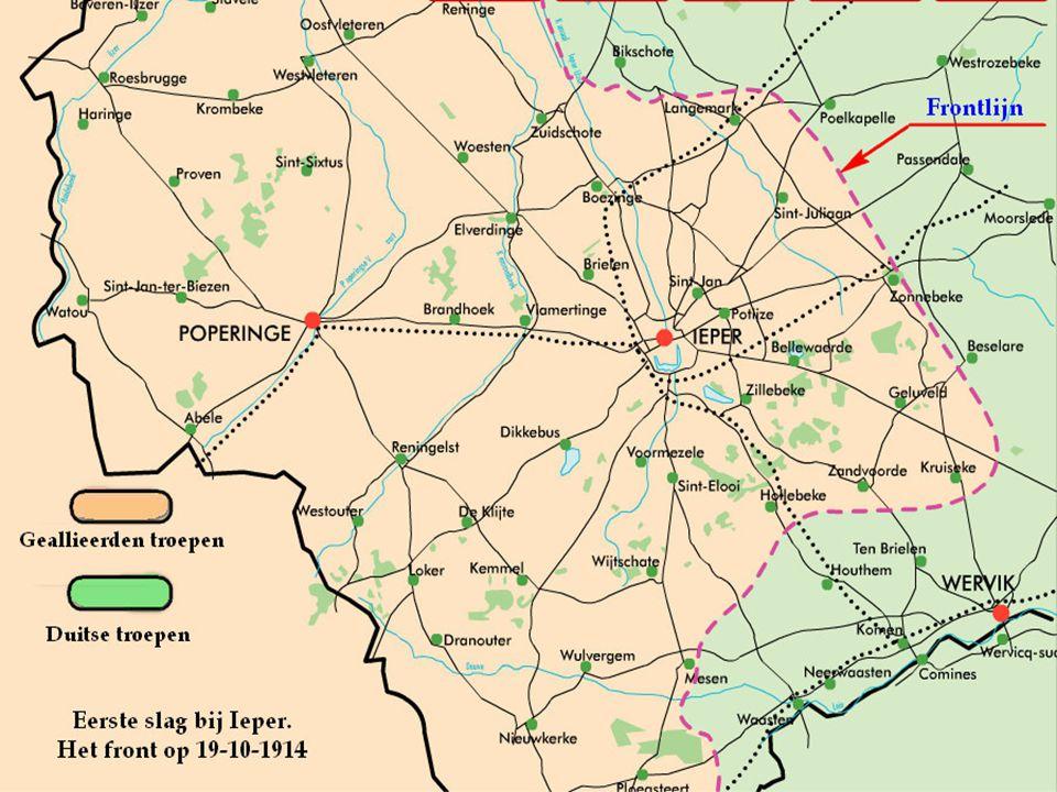 De 27 e oktober Mitry vorderde een weinig naar het noorden van Langemark, maar de divisie van Rawlinson wordt geteisterd door massale infanterie aanva