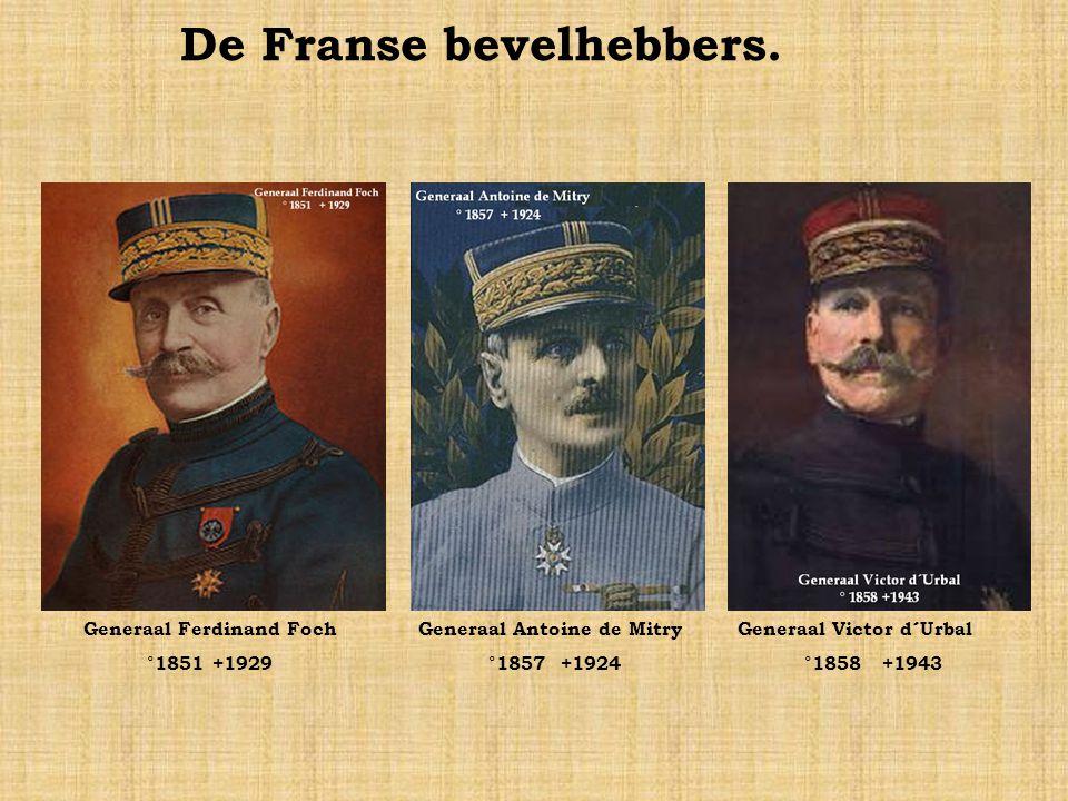 De Duitse bevelhebbers. Keizer Willem II °1859+1941Rupprecht van Beieren °1869+1955Max von Fabeck °1854+1916 Berthold von Deimling °1853+1944Albrecht
