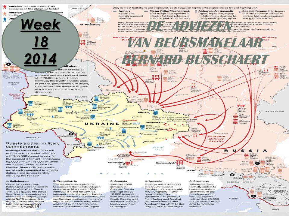 11/12/20141 DE ADVIEZEN VAN BEURSMAKELAAR BERNARD BUSSCHAERT Week 18 2014
