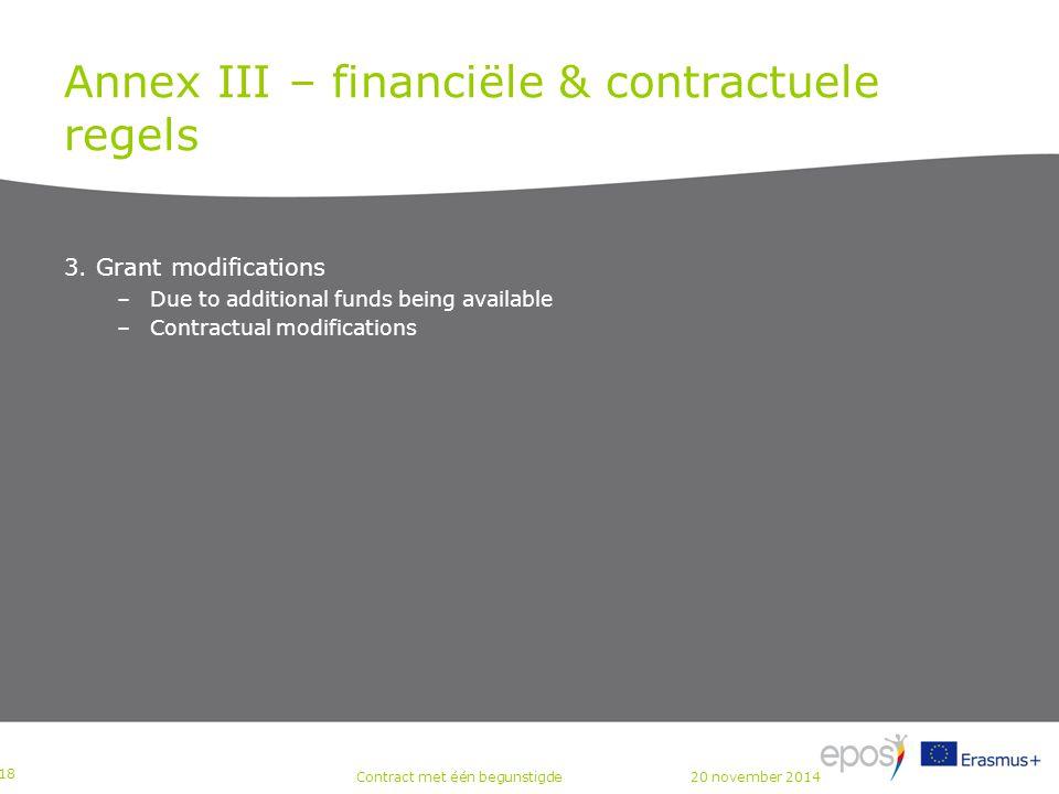 Annex III – financiële & contractuele regels 3.