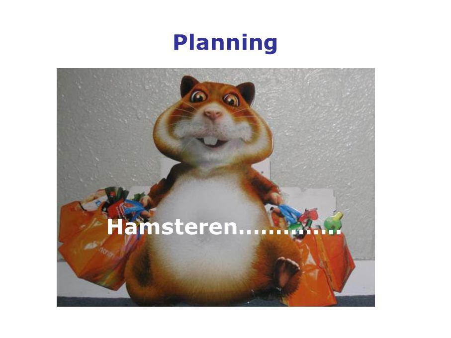 Planning Hamsteren…………..