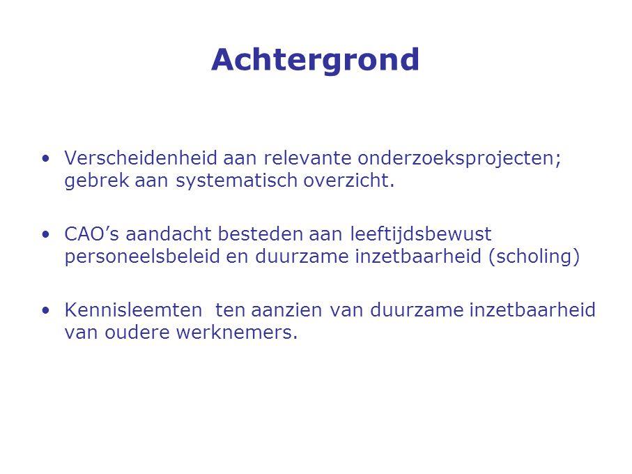 Niet gezond en toch werken Vitaliteit van de Nederlandse beroepsbevolking