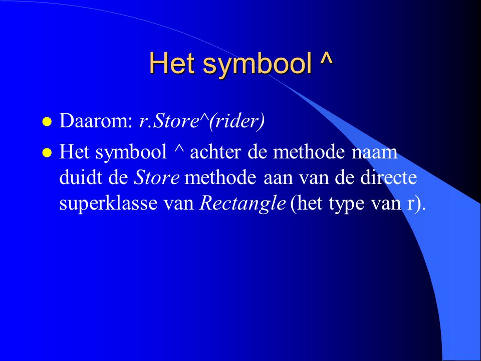 Voorbeeld (3) l Store moet niet volledig worden herschreven.