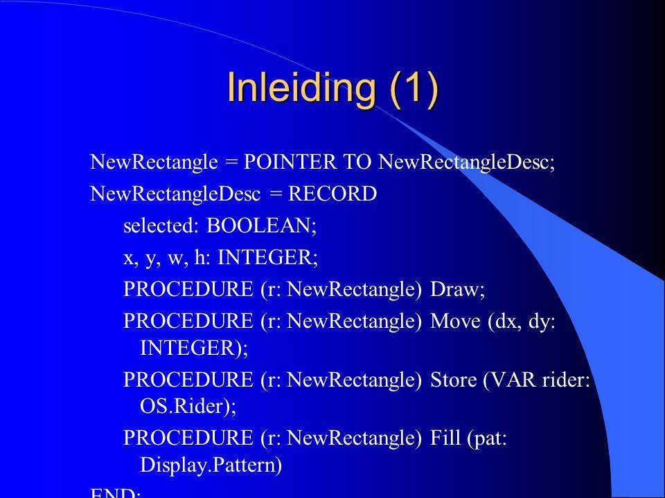 Compatibiliteit van een basistype met zijn extensie l Inleiding l Record toekenningen l Pointer toekenningen l Records als variabele parameters l Voorbeelden