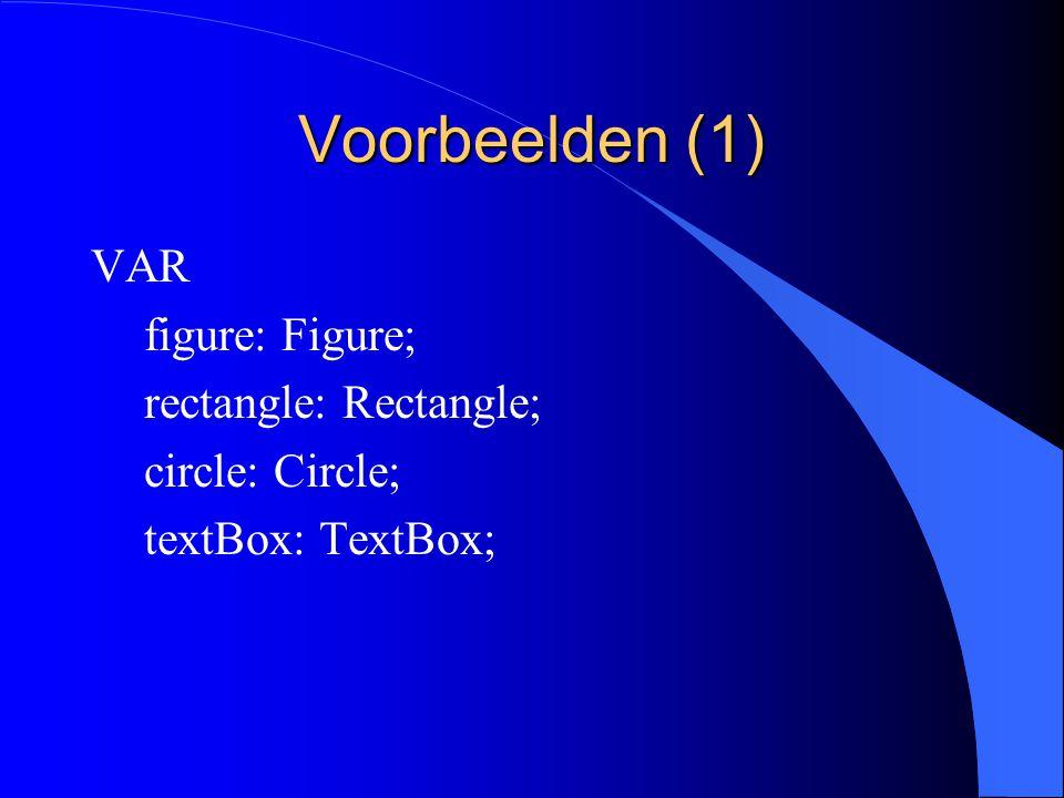 Records als variabele parameters (3) l Met variable parameters wordt er geen toekenning uitgevoerd.