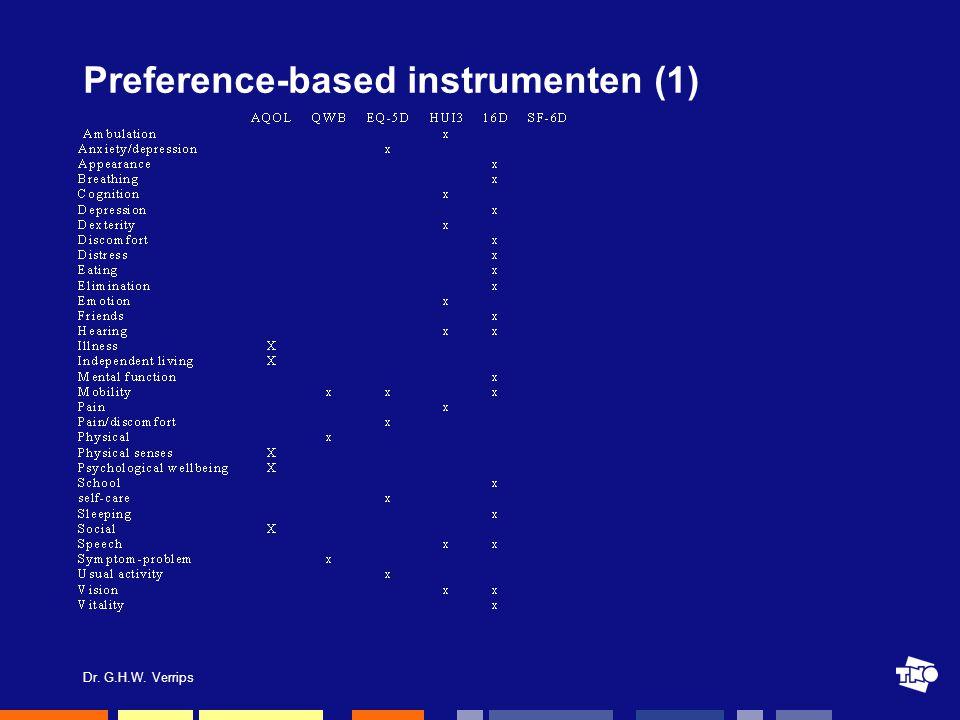 Dr. G.H.W. Verrips Preference-based instrumenten (1)