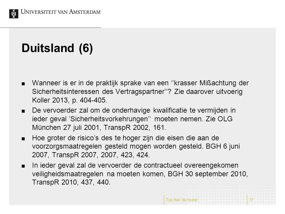 Duitsland (6) Wanneer is er in de praktijk sprake van een ''krasser Mißachtung der Sicherheitsinteressen des Vertragspartner''.