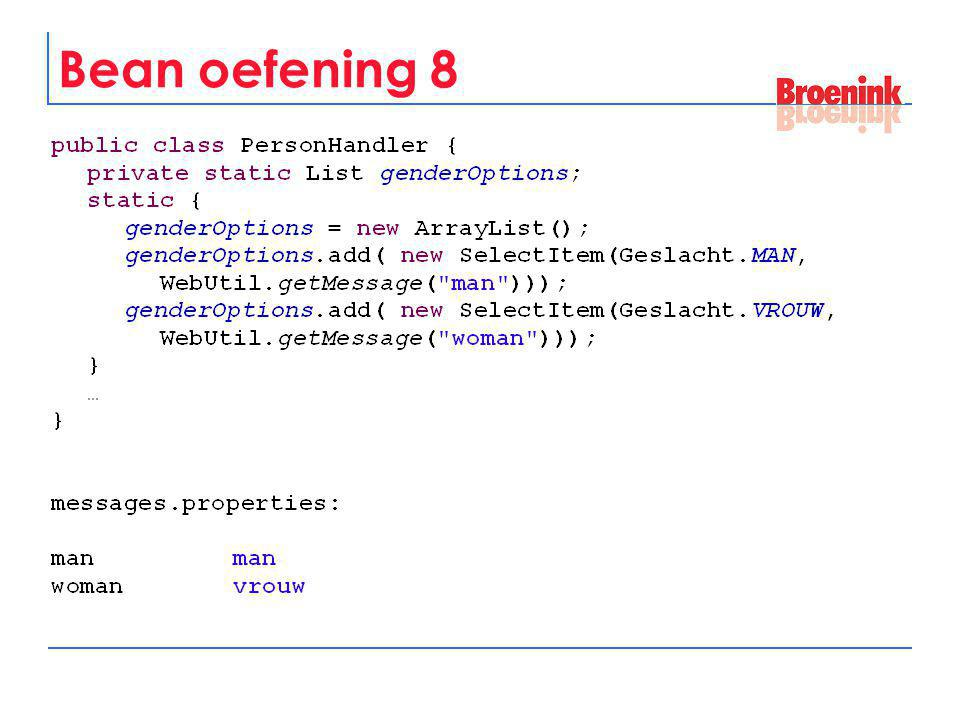 Bean oefening 8