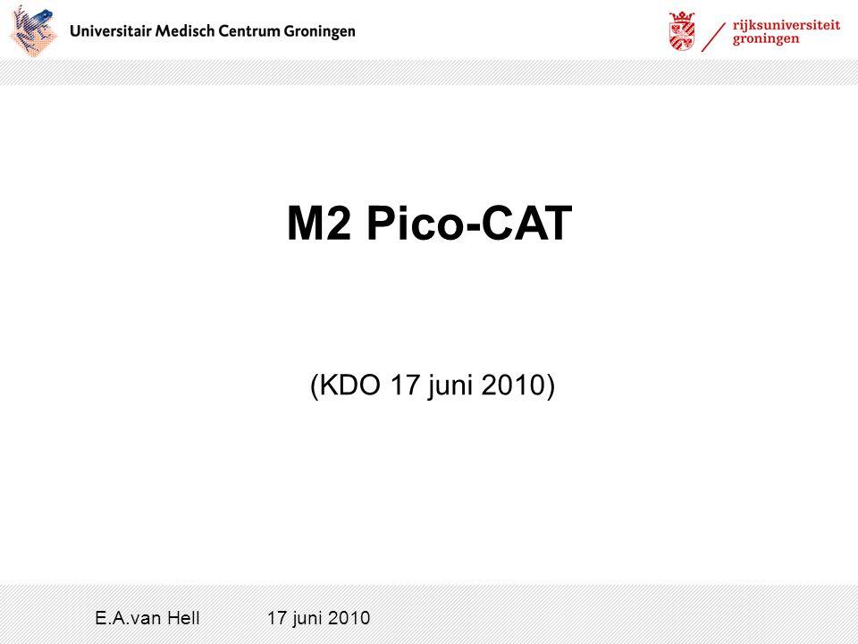 M2 Pico-CAT E.A.van Hell17 juni 2010 (KDO 17 juni 2010)