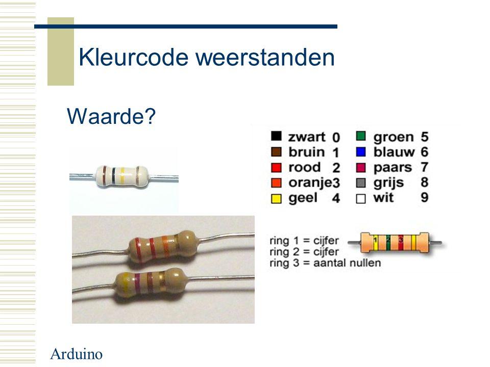 Arduino Kleurcode weerstanden Waarde?