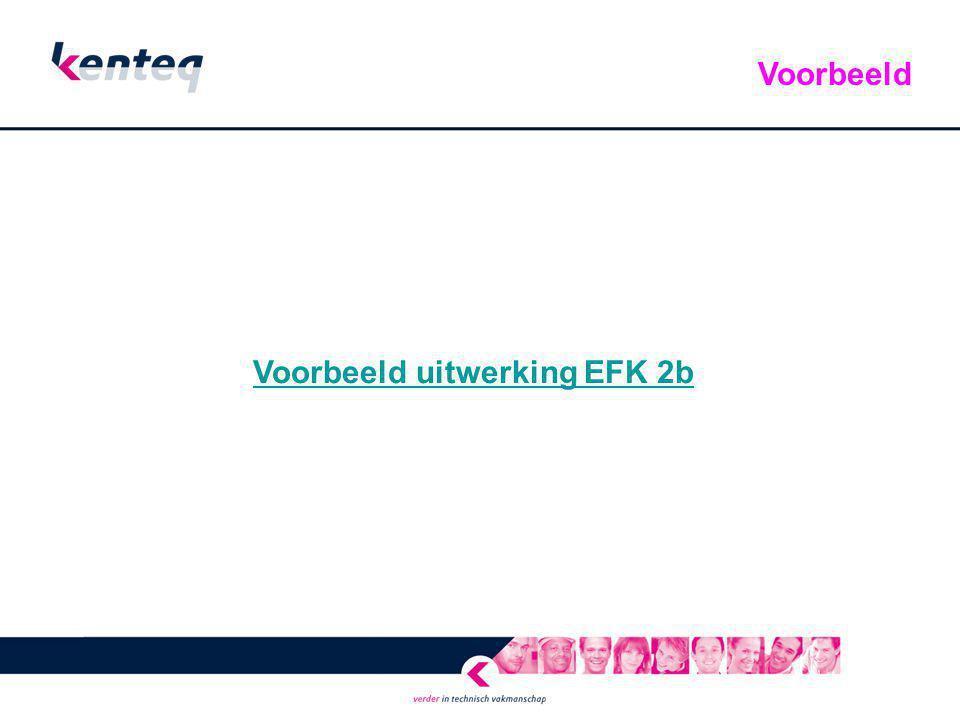 Voorbeeld uitwerking EFK 2b Voorbeeld