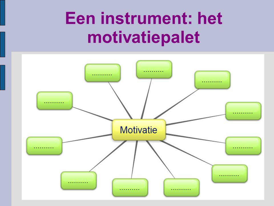 Een instrument: het motivatiepalet