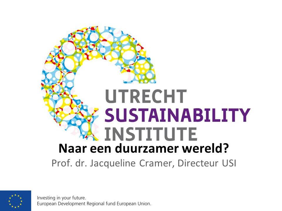 Naar een duurzamer wereld? Prof. dr. Jacqueline Cramer, Directeur USI