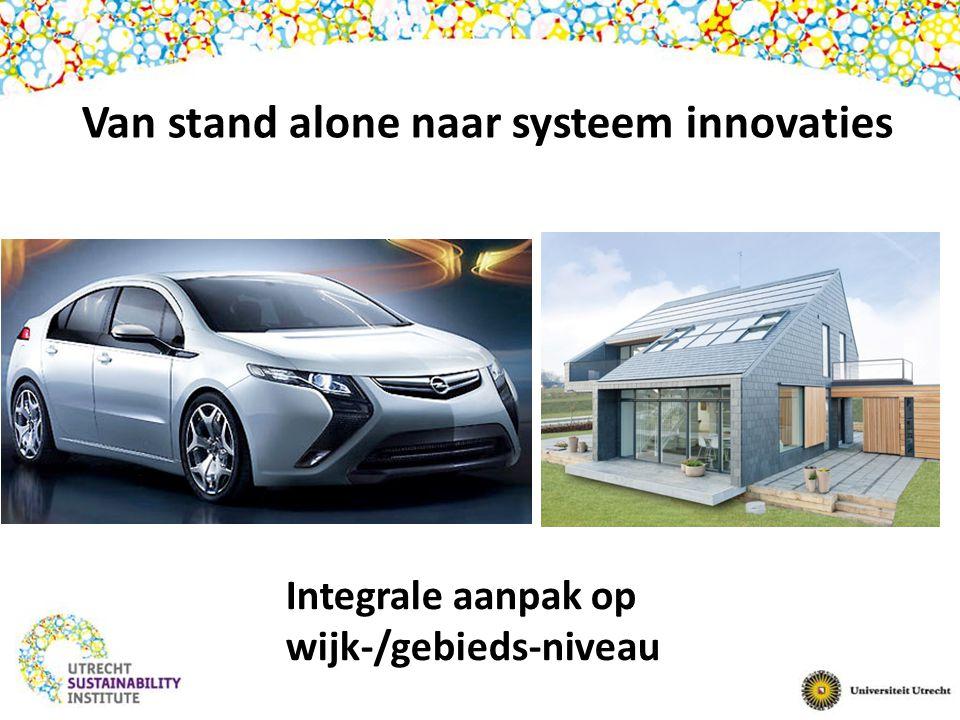 Van stand alone naar systeem innovaties Integrale aanpak op wijk-/gebieds-niveau
