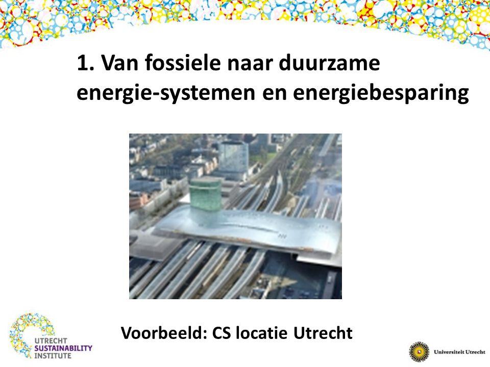 Voorbeeld: CS locatie Utrecht 1. Van fossiele naar duurzame energie-systemen en energiebesparing
