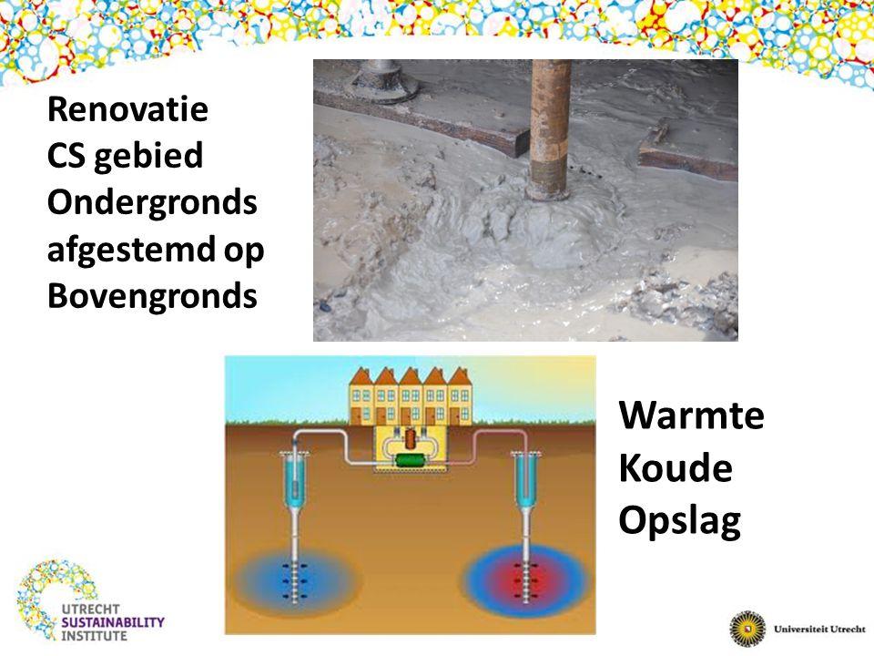 Renovatie CS gebied Ondergronds afgestemd op Bovengronds Warmte Koude Opslag