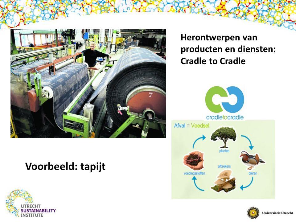 Herontwerpen van producten en diensten: Cradle to Cradle Voorbeeld: tapijt