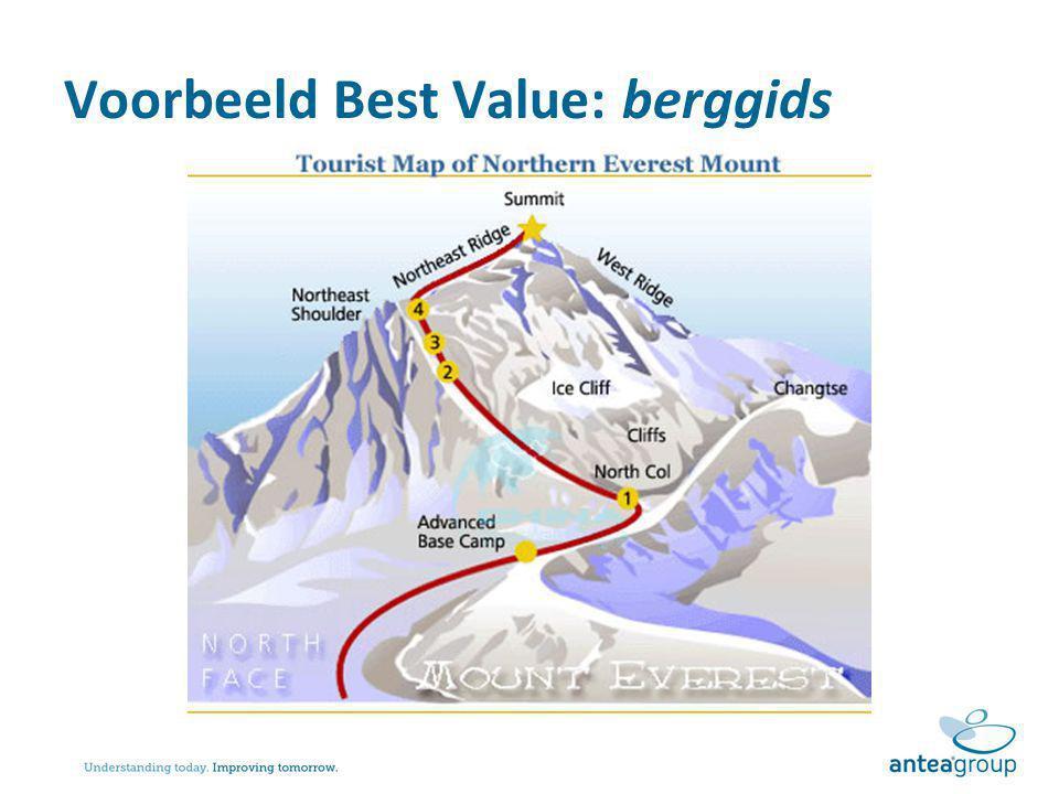 Voorbeeld Best Value: berggids