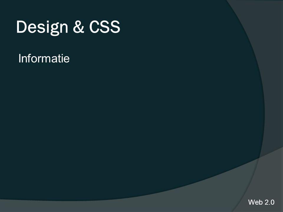 Design & CSS Informatie Web 2.0