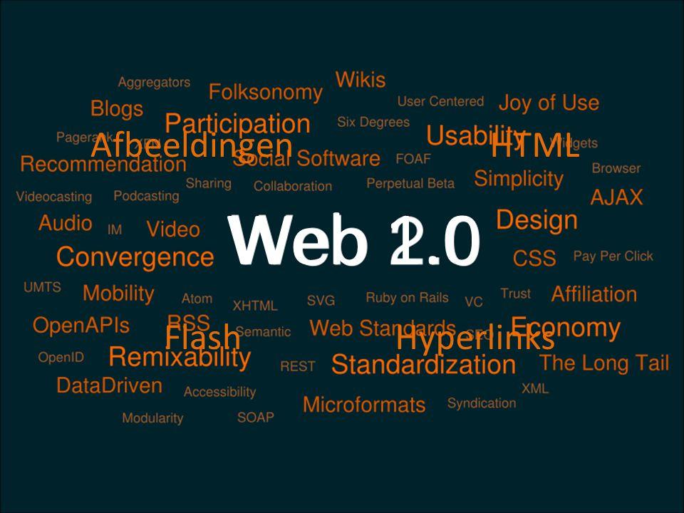Web 1.0 HTMLAfbeeldingen FlashHyperlinks