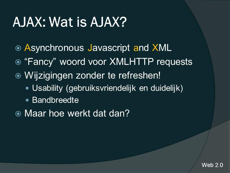 AJAX: Wat is AJAX.