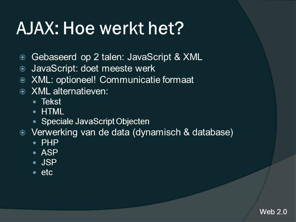AJAX: Hoe werkt het.