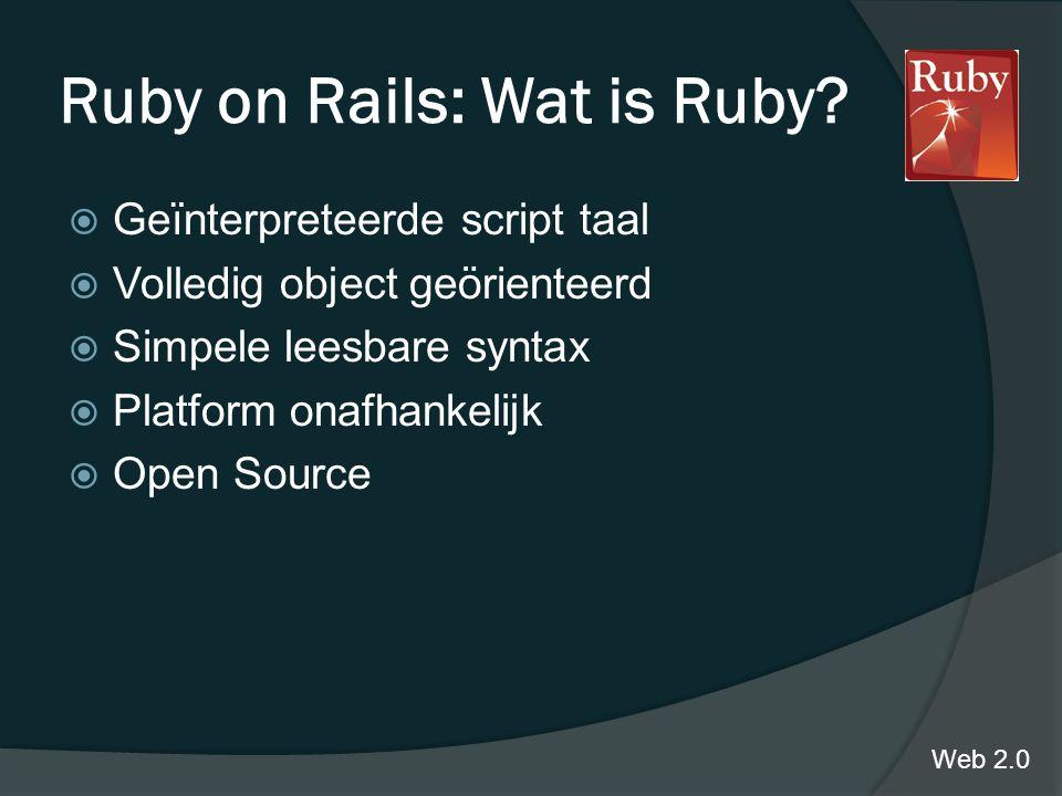 Ruby on Rails: Wat is Ruby.