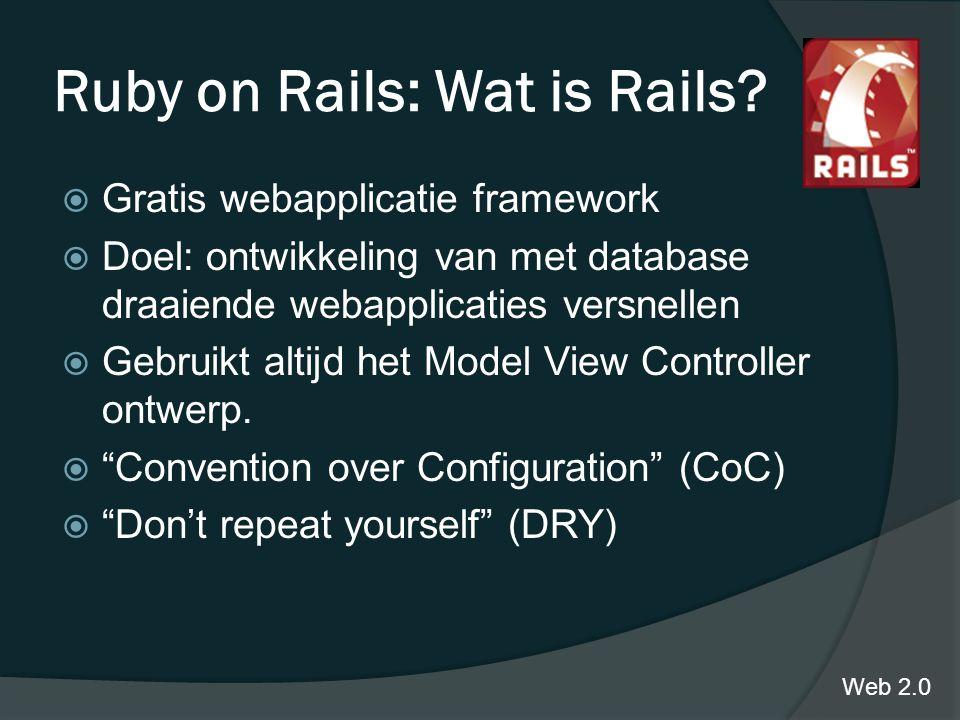 Ruby on Rails: Wat is Rails.