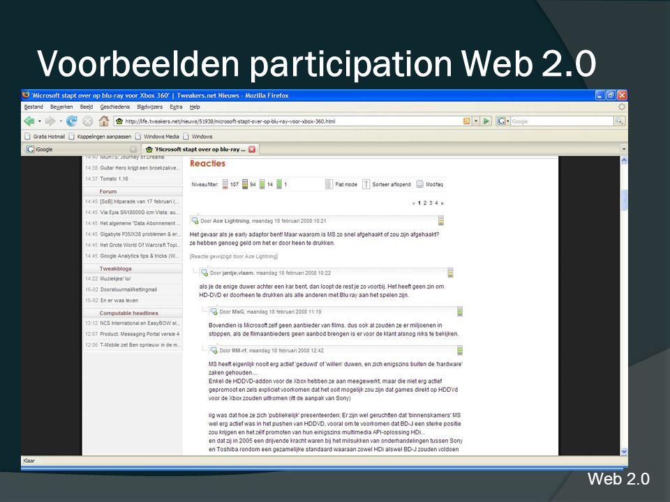 Tweakers.net Voorbeelden participation Web 2.0 Web 2.0