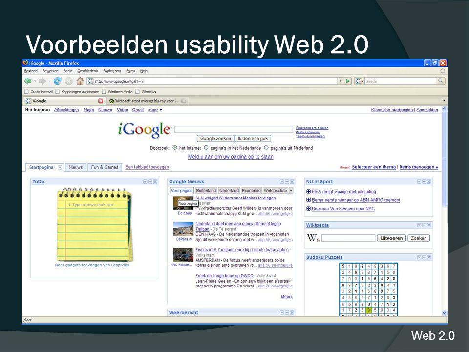 igoogle Voorbeelden usability Web 2.0 Web 2.0
