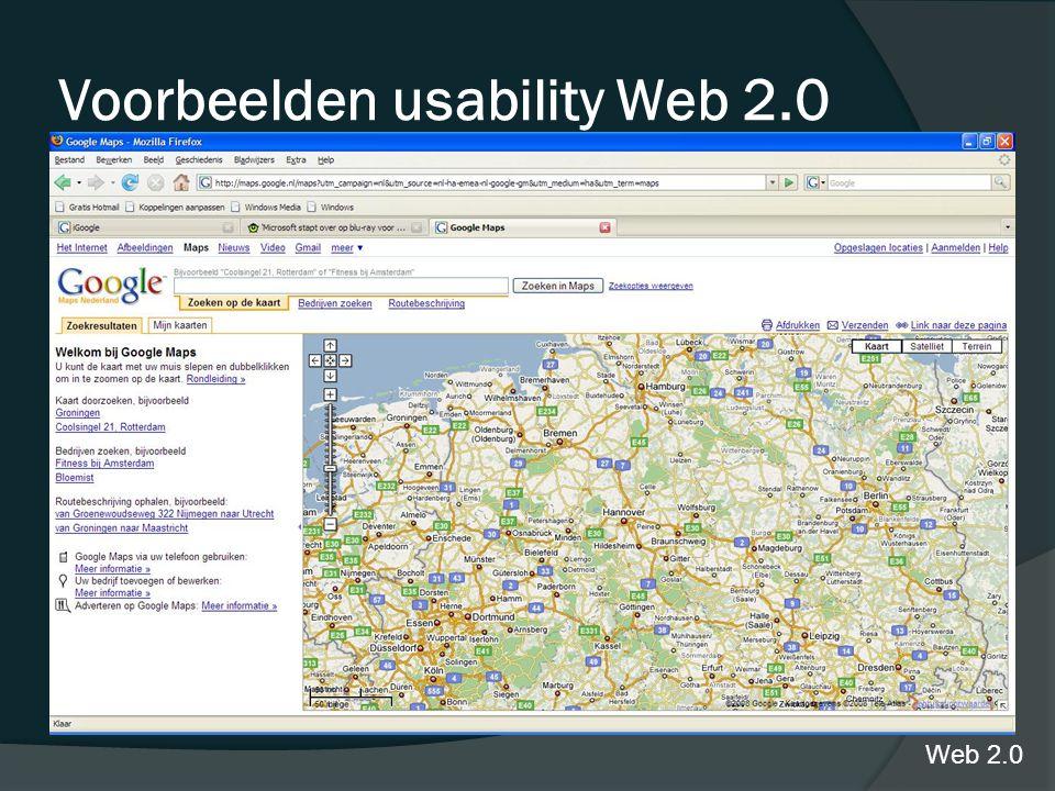 maps.google Voorbeelden usability Web 2.0 Web 2.0
