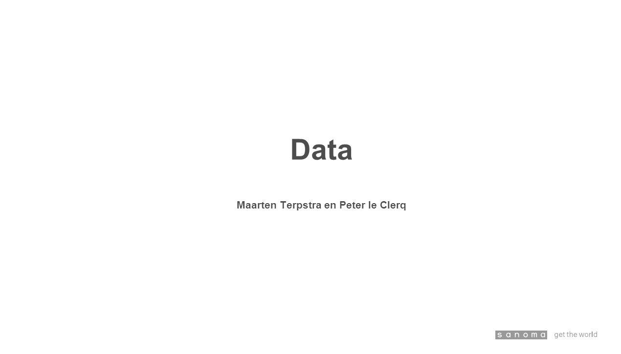 Data Maarten Terpstra en Peter le Clerq