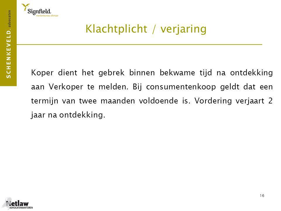 17 Contract (1)  Verkoper (bedrijfsmatig) aan Koper.
