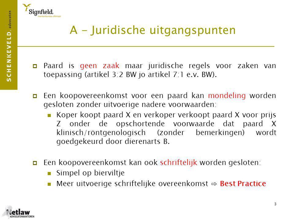 4 B - Voordeel schriftelijke overeenkomst (Best practice)  Bewijs en op voorhand duidelijkheid.