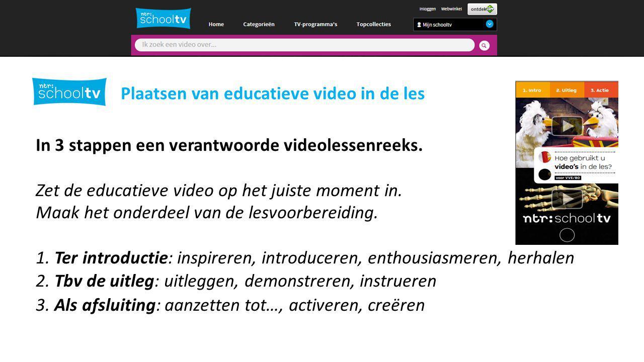 In 3 stappen een verantwoorde videolessenreeks.Zet de educatieve video op het juiste moment in.