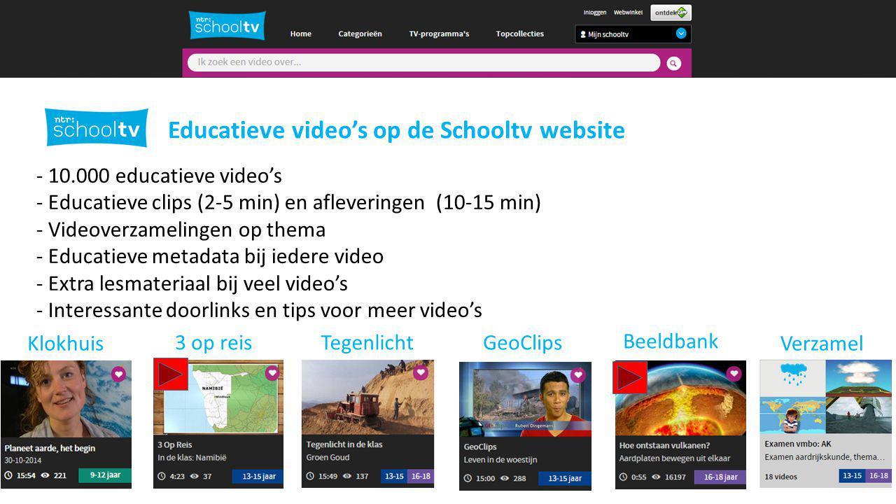 Afspeellijsten maken in Schooltv.nl Afspeellijsten maken…. Eerst registreren en/of inloggen
