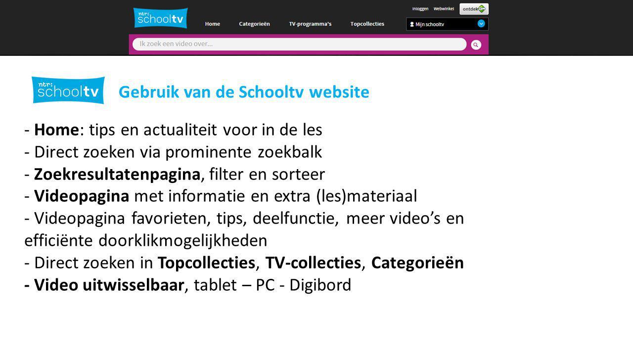 Afspeellijsten maken in Schooltv.nl