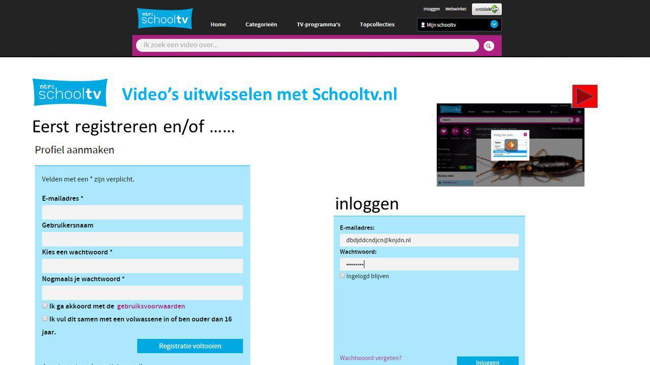 Video's uitwisselen met Schooltv.nl Video's opslaan….