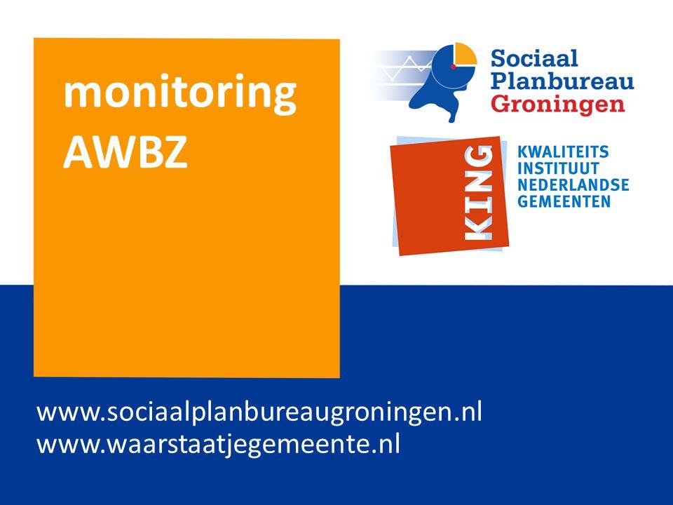 www.sociaalplanbureaugroningen.nl www.waarstaatjegemeente.nl monitoring AWBZ