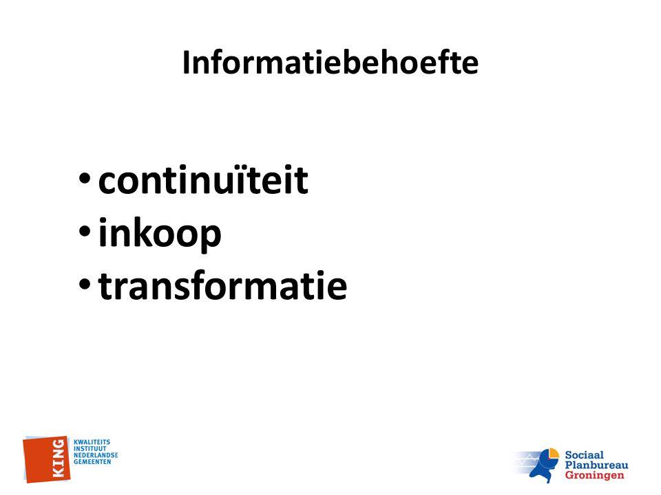 Informatiebehoefte continuïteit inkoop transformatie
