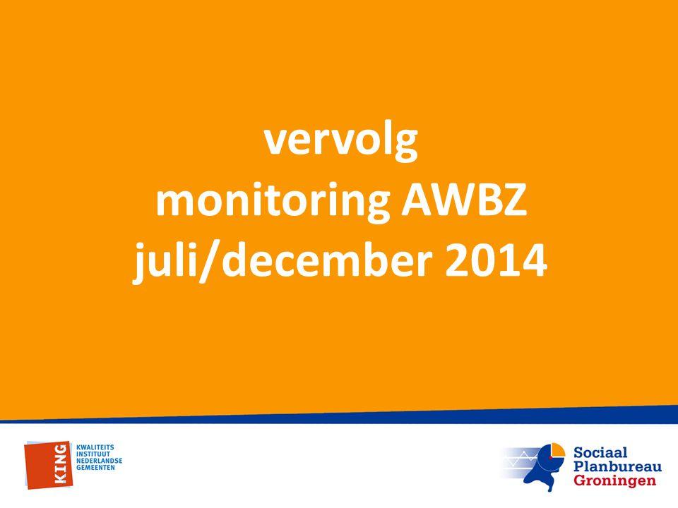 vervolg monitoring AWBZ juli/december 2014